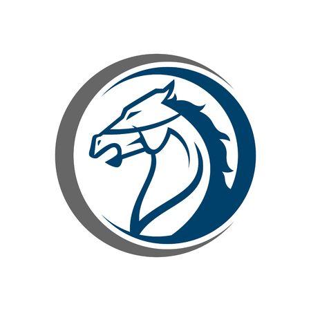 caballo: Plantilla del logotipo del caballo