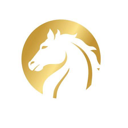 mustang horse logo template - Green Mustang Horse Logo