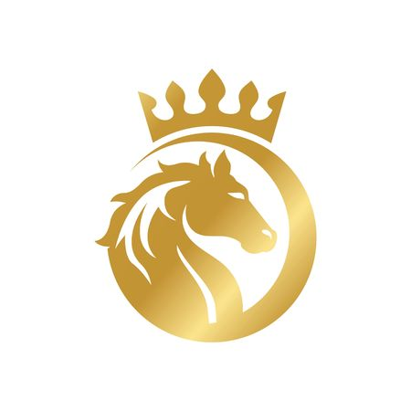 carreras de caballos: Plantilla del logotipo del caballo
