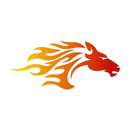 馬のロゴのテンプレート