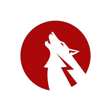 angry dog: Wolf Logo Template
