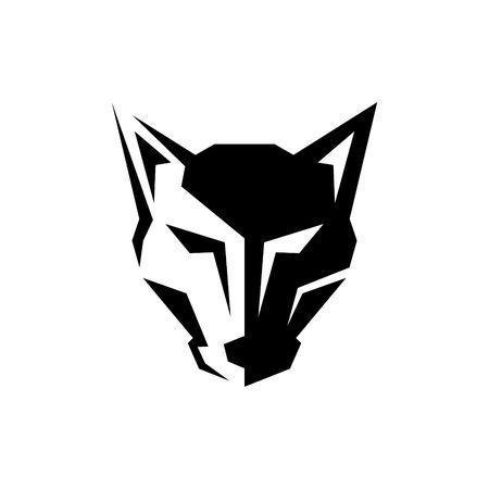 オオカミのロゴのテンプレート