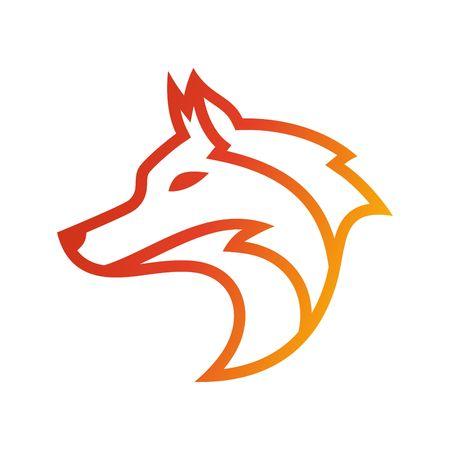 lobo: Plantilla del logotipo del lobo Foto de archivo