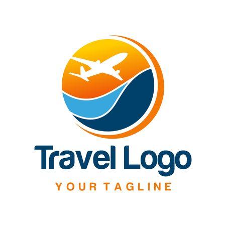 旅行: 旅行のロゴのテンプレート
