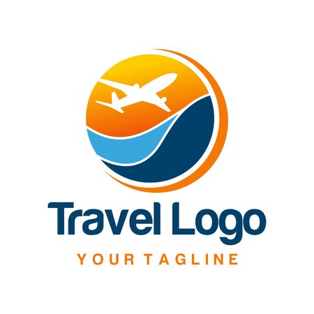 viagem: Logo Viagens Template Banco de Imagens