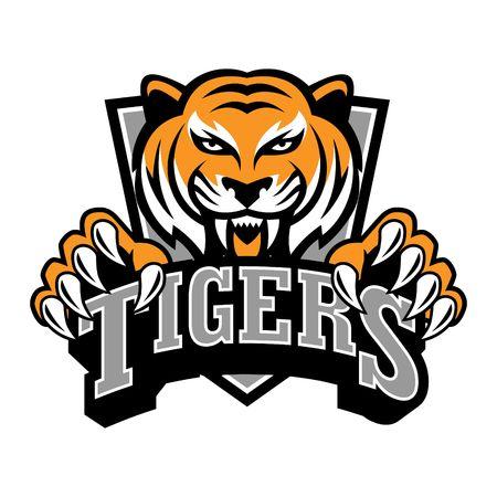 Tiger Logo Template Banco de Imagens
