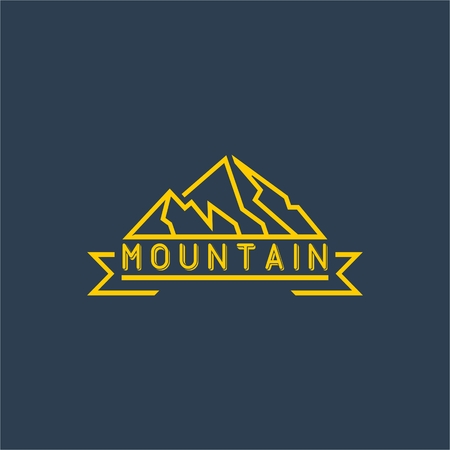 logotipo turismo: Plantilla Logo Montaña