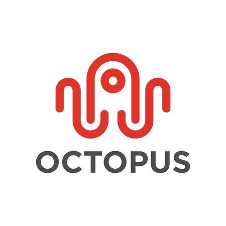 Octopus 로고 템플릿 스톡 콘텐츠