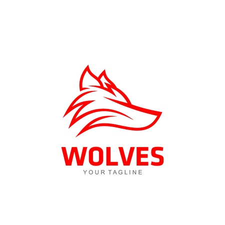 Template wolven Logo