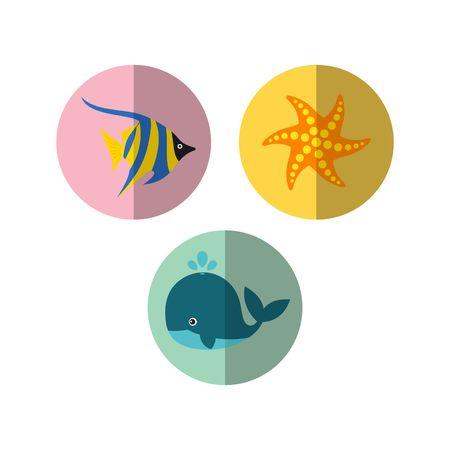 sealife: Sealife icon Template Stock Photo