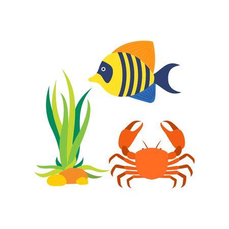 sealife: Sealife icon Template Lizenzfreie Bilder