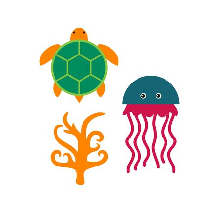 sealife: Sealife icon Template Stock Photo