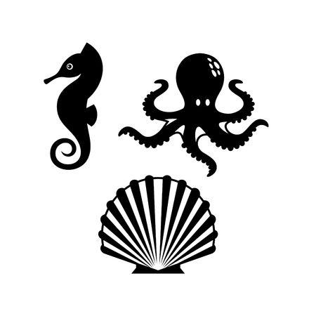sealife: Sealife Logo Template Stock Photo