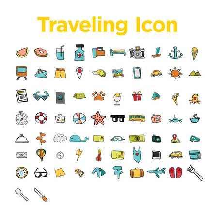 Reizen Icon Set