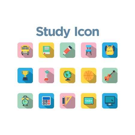 study icon: Study Icon Set