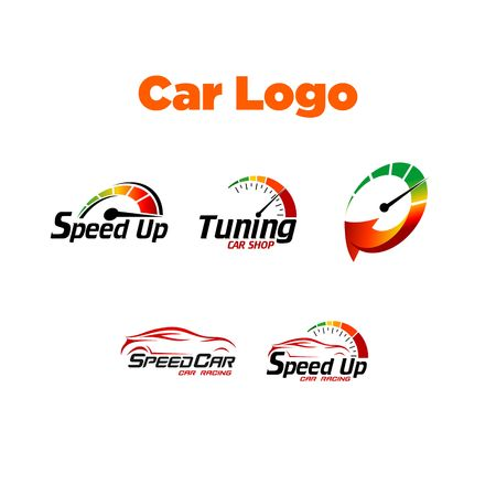 rally car: Car Logo Template