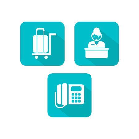hotel icon set: Hotel Icon Set Stock Photo