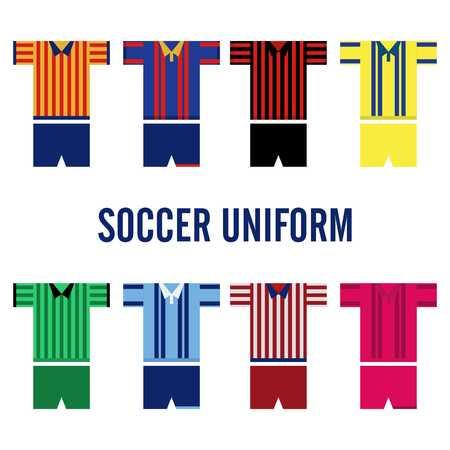 sports team: Soccer Uniform Template Stock Photo