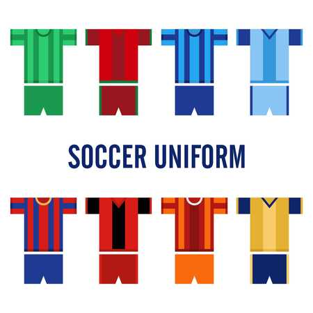 sport clothes: Soccer Uniform Template Stock Photo