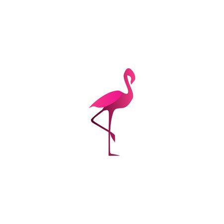 Flamingo vector sjabloon Stockfoto