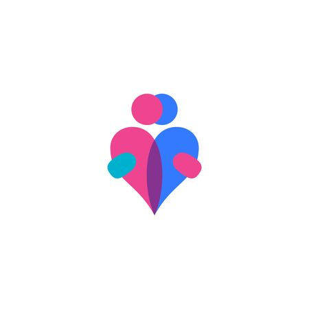 internet dating: Love Couple Vector Template