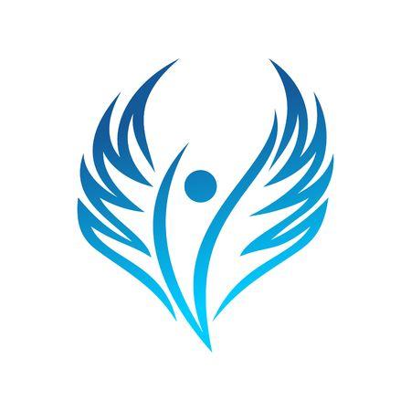angel flying: Angel Vector Template