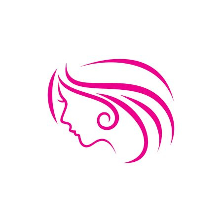 massage symbol: Beauty Face Vector Template