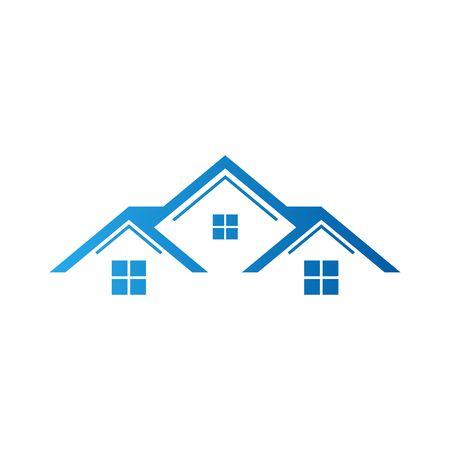 Real Estate Vector Template Standard-Bild
