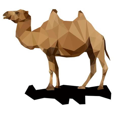 triangulation: Animal Triangulation Vector Template Stock Photo