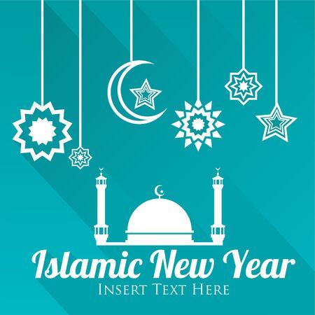 イスラム暦新年ベクトル テンプレート