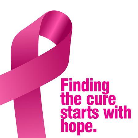 乳房癌の意識ベクトル テンプレート