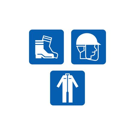 fabricate: Mandatory Signs, safety sign used in industrial applications Stock Photo