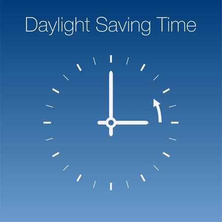 daylight: Daylight Saving Time Vector Template