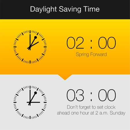 daylight: Daylight Saving Time Vector Template