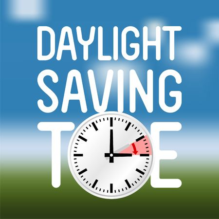 Daylight Saving Time Vector Template Imagens - 46106513