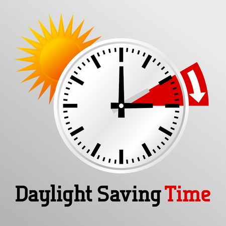 Daylight Saving Time Vector Template Stock fotó - 46106509