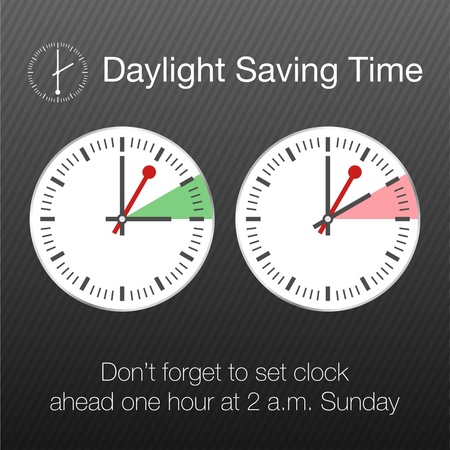 hour hand: Daylight Saving Time Vector Template