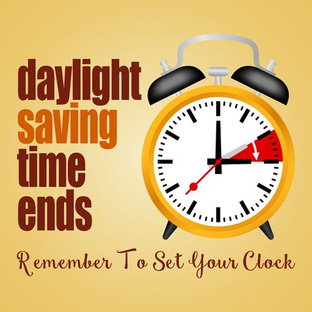 winter time: Daylight Saving Time Vector Template