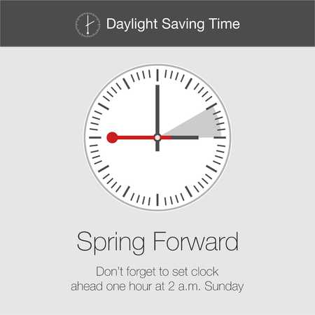 cipher: Daylight Saving Time Vector Template