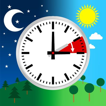 Daylight Saving Time Vector Template Reklamní fotografie - 46106628