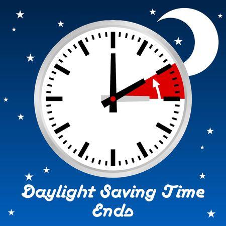Daylight Saving Time Vector Template