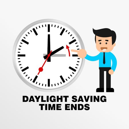 time zone: Daylight Saving Time Vector Template
