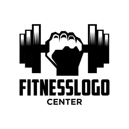 Fitness Logo Template 스톡 콘텐츠