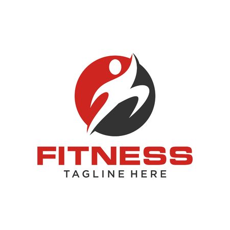 Fitness Logo Template Stock fotó