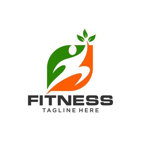 Fitness Logo Template Standard-Bild