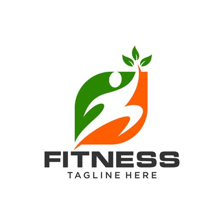 saludable logo: Plantilla Logotipo de fitness