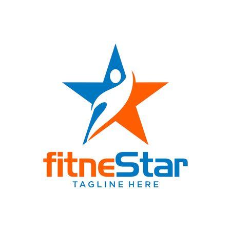 atletismo: Plantilla Logotipo de fitness