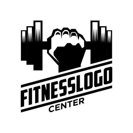 manos logo: Plantilla Logotipo de fitness