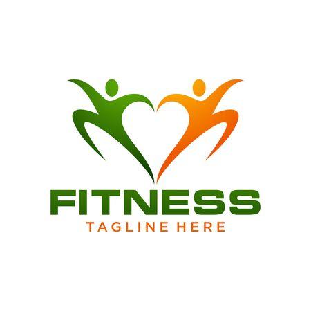 saludable logo: Plantilla Logotipo de fitness