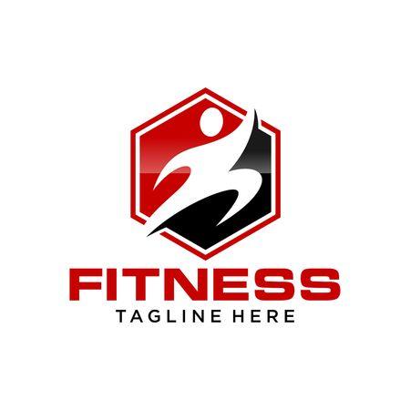 Fitness Logo Template 写真素材